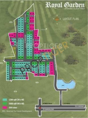 Upkar Royal Garden Villas Layout Plan