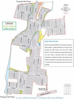 Upkar Royal Garden Villas Site Plan