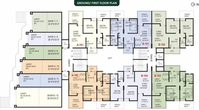 Vastushree Adrina Cluster Plan