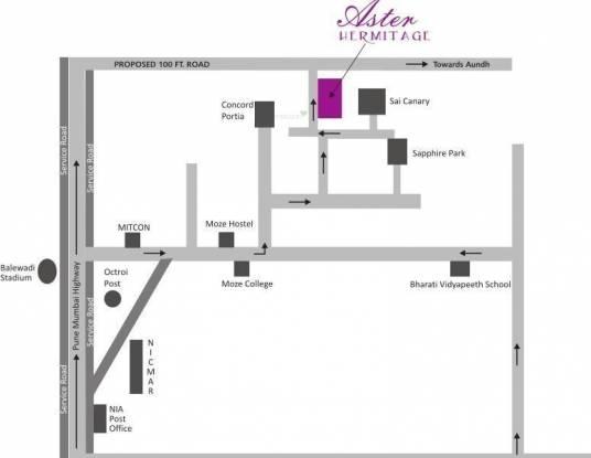 Horizon Aster Hermitage Location Plan