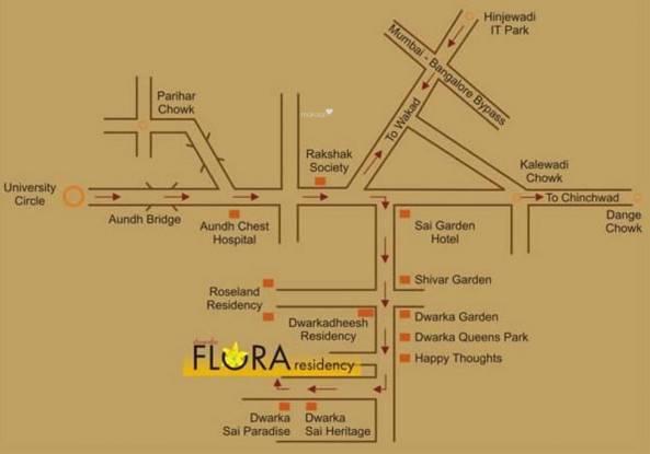 GK Flora Residency Location Plan