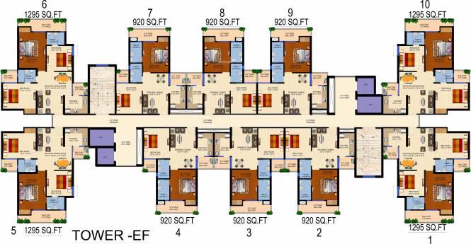 Ajnara Panorama Cluster Plan