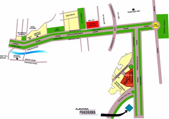Ajnara Panorama Location Plan