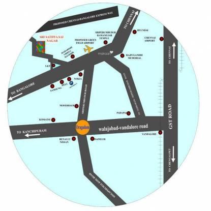 Wisdom Sri Sathyasai Nagar Location Plan