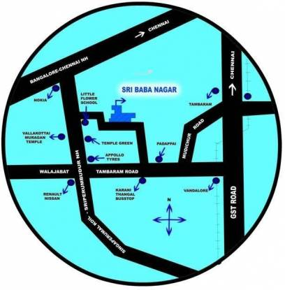 Wisdom Sri Baba Nagar Location Plan