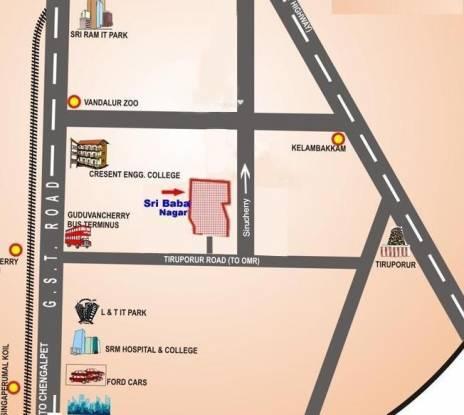 Wisdom Sri Sairam Nagar Location Plan