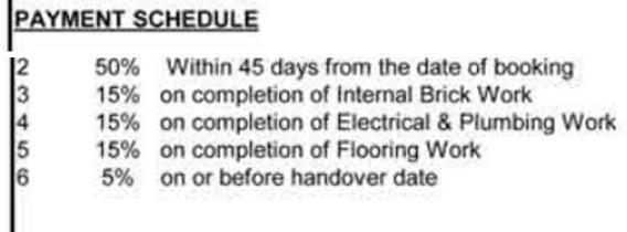 Prince Residenzia Payment Plan