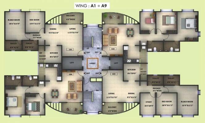 Pegasus Megapolis Splendour Cluster Plan