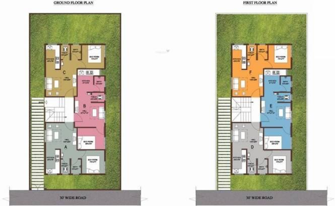 Arun Villa Juhu Beach Cluster Plan