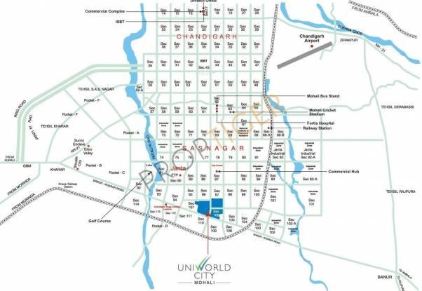 Unitech Aspen Greens Location Plan