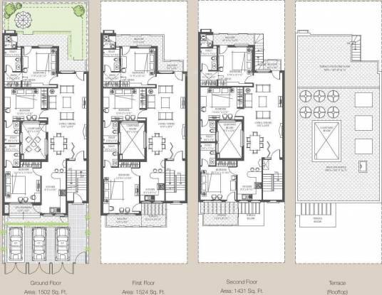 Emaar The Terraces Villa Floors Cluster Plan