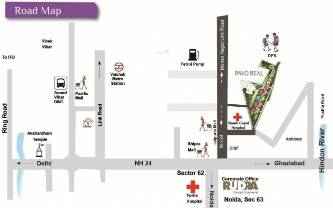 Rudra Pavo Real Location Plan