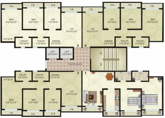 Vinay Unique Heights Cluster Plan