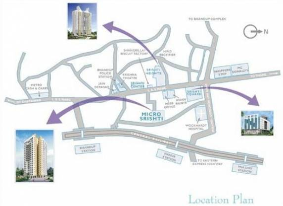 Srishti Micro Srishti Location Plan