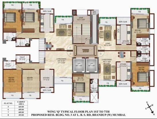 Srishti Heights Cluster Plan