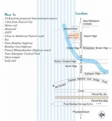 Konnark River City Location Plan