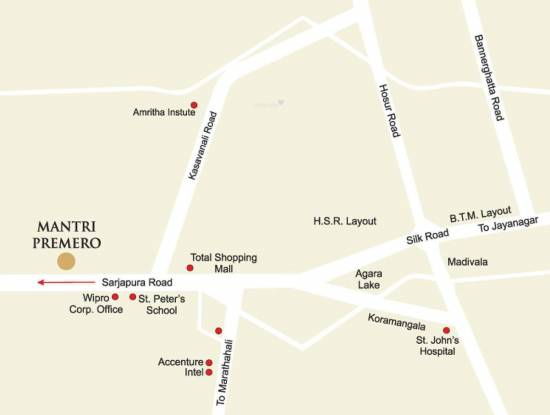 Mantri Premero Location Plan