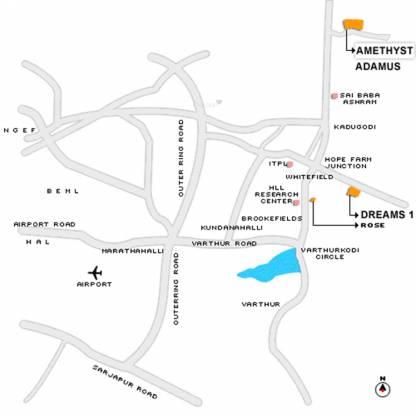 Sobha Amethyst Location Plan