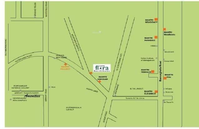 Mantri Mantri Flora Location Plan