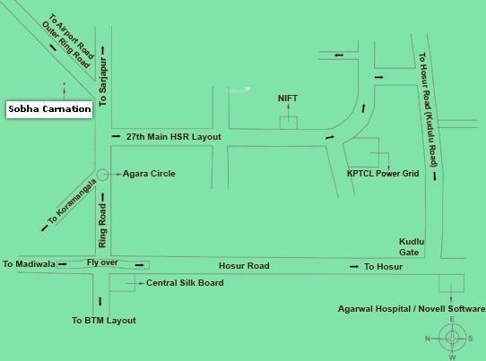 Sobha Carnation Location Plan