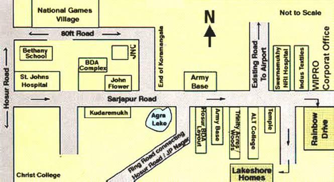 Ferns Lake Shore Homes Location Plan