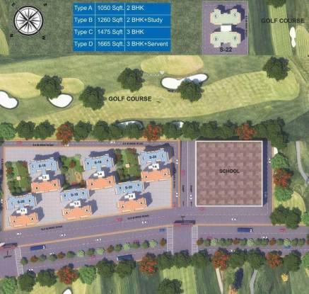 The Antriksh Golf City Site Plan