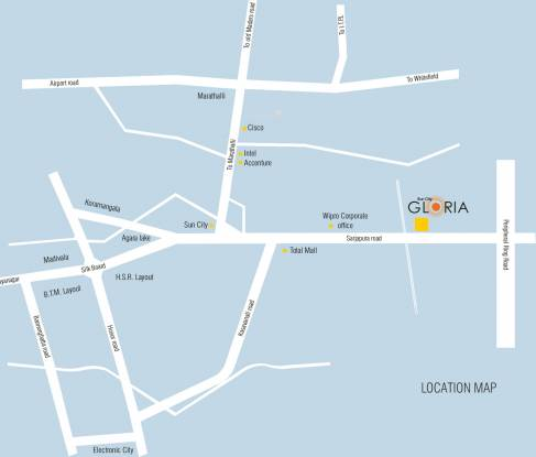 Corporate Suncity Gloria Location Plan