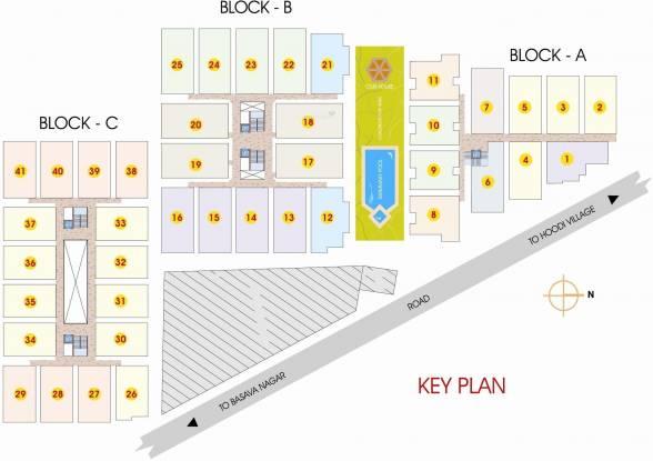 Mahaveer Dazzle Layout Plan