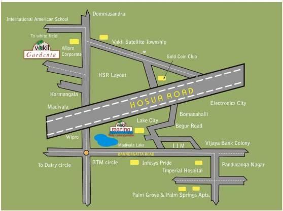 Vakil Gardenia Location Plan