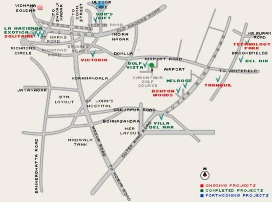 Vaswani Villa Del Mar Location Plan