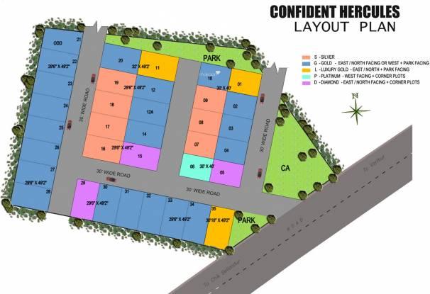 Confident Hercules Layout Plan