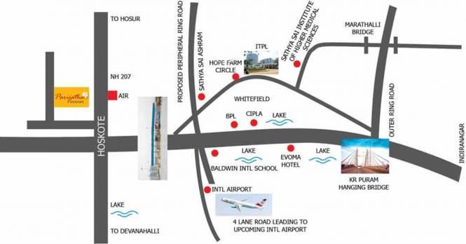 Aureate Parijata Meadows Location Plan