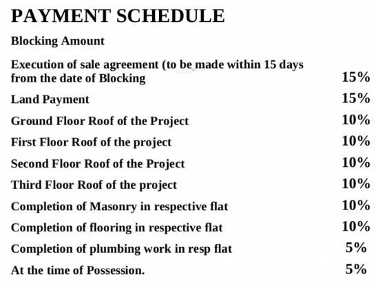 Mayur Signature Payment Plan