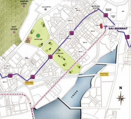 Paradise Sai Mannat Location Plan