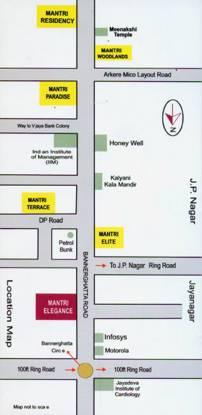 Mantri Elegance Location Plan