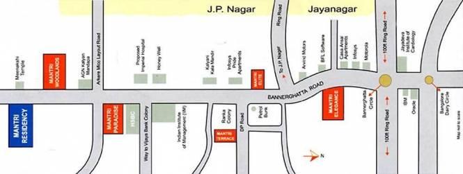 Mantri Mantri Paradise Location Plan