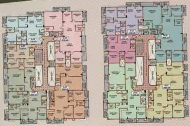 Aisshwarya Opulence Apartments Cluster Plan