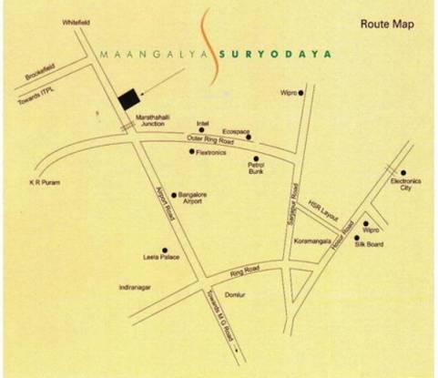 Maangalya Suryodaya Location Plan