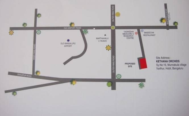 Kethana Kethana Orchids Location Plan