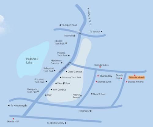Skanda Moksh Location Plan