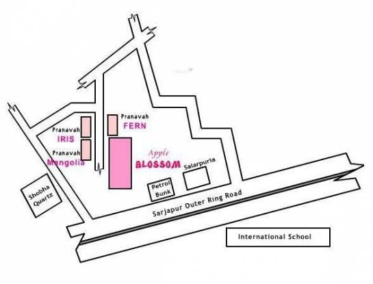 Pranavah Springs Location Plan