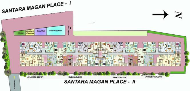 Daya Santara Magan Place II Layout Plan