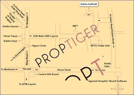 Sobha Daffodil Location Plan