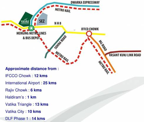 Vatika Iris Floors Location Plan