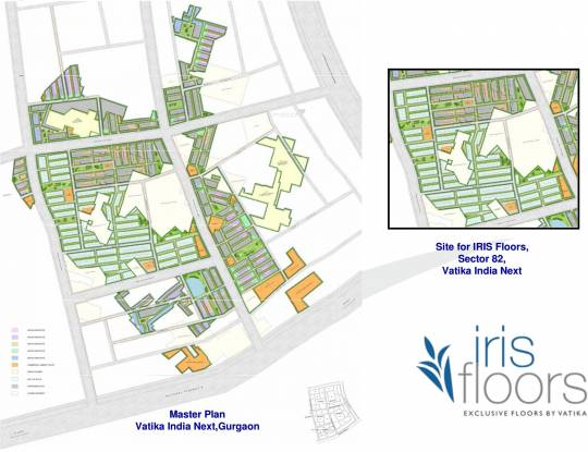 Vatika Iris Floors Master Plan