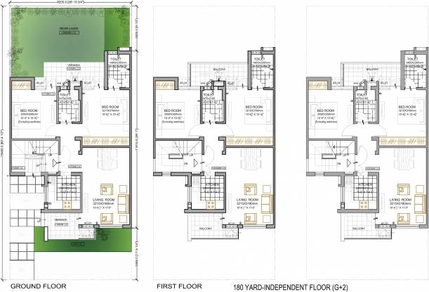Vatika Emilia Floors Cluster Plan