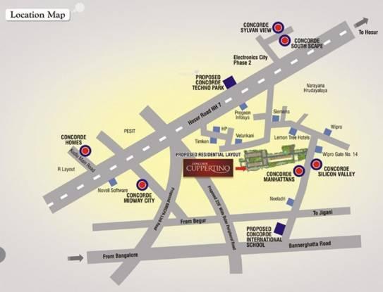Concorde Silicon Valley Location Plan