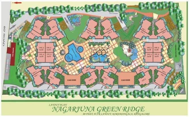 NCC Nagarjuna Green Ridge Layout Plan