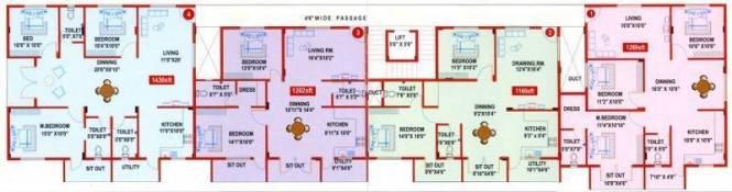 NBR Nikhil Opel Apartments Cluster Plan