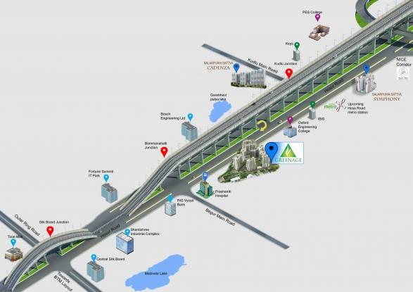 Salarpuria Sattva Greenage Location Plan